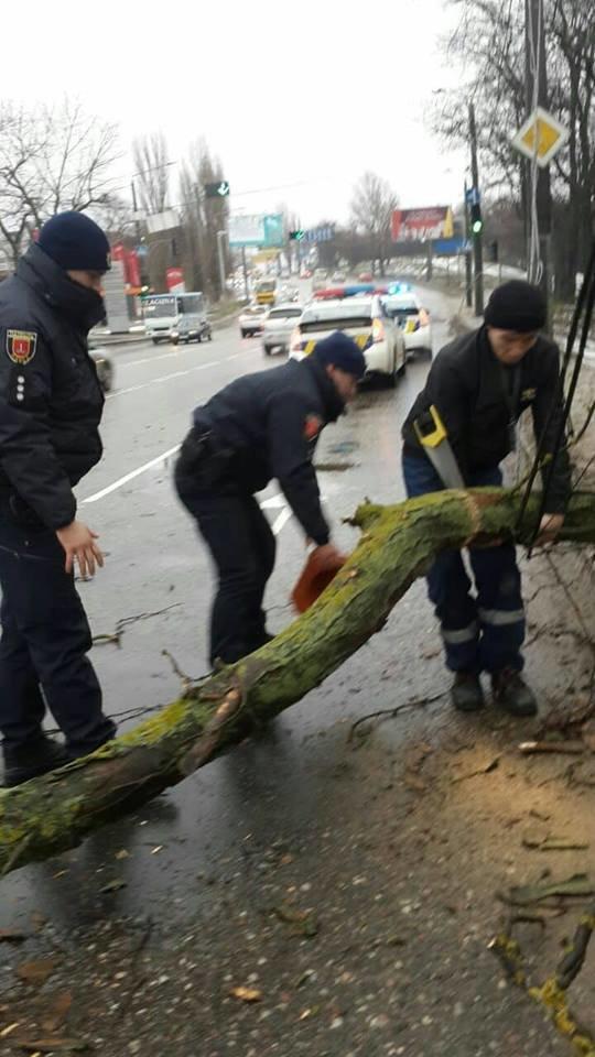 Непогода на время усложнила движение на одесской дороге, - ФОТО, фото-2, Фото: Патрульная полиция