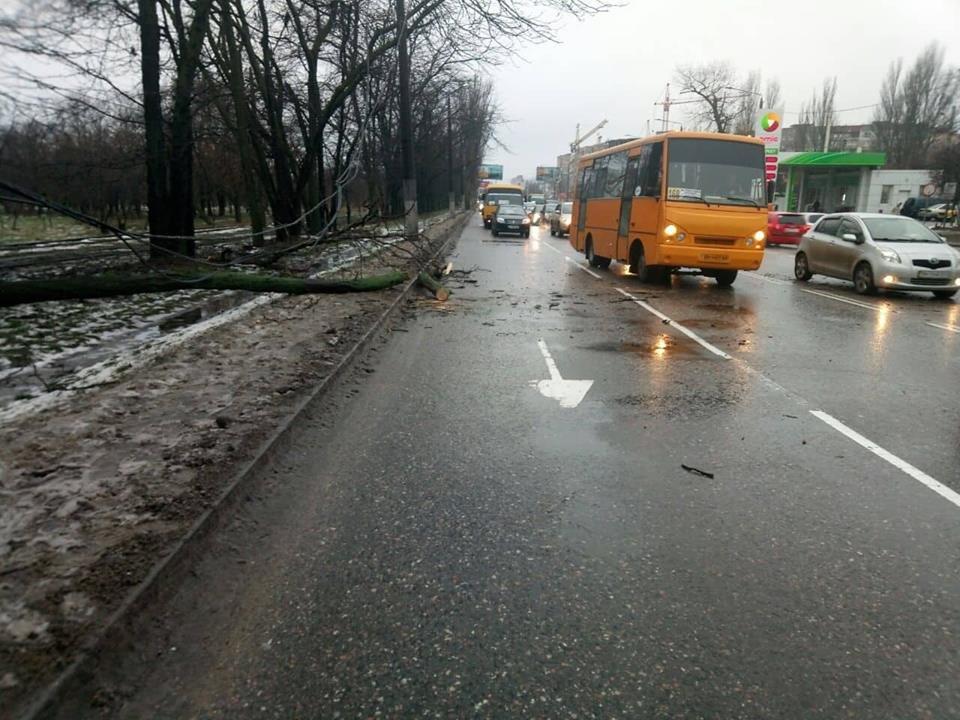 Непогода на время усложнила движение на одесской дороге, - ФОТО, фото-1, Фото: Патрульная полиция