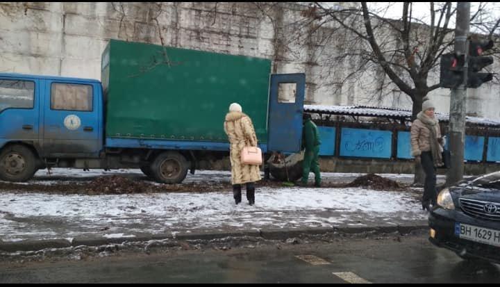 """""""Не вовремя, но что-то делают"""": в Одессе занялись уборкой листвы, - ФОТО, фото-2, Фото: Игорь Хмурый"""