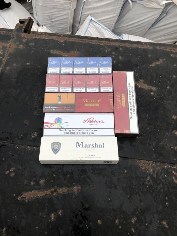 Баржа с контрабандными сигаретами, ноябрь 2018 года