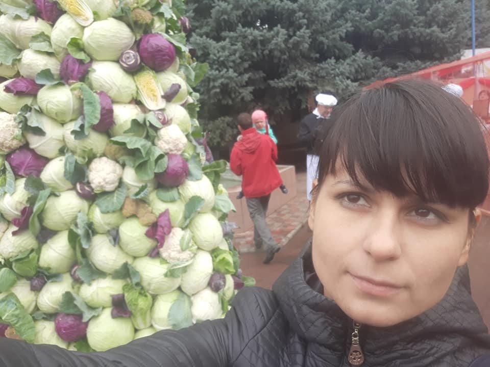 6-метровое дерево из капусты появилось в Одесской области, - ФОТО, фото-1, Евгения Генова, Facebook