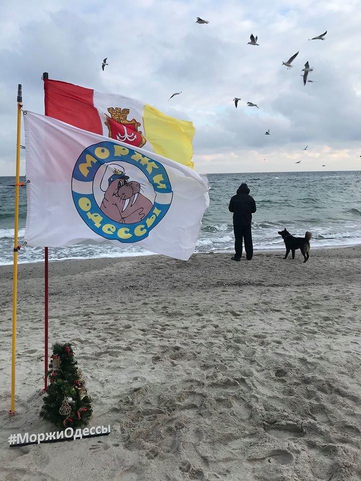 Клуб Моржи Одессы устроили новогодний заплыв