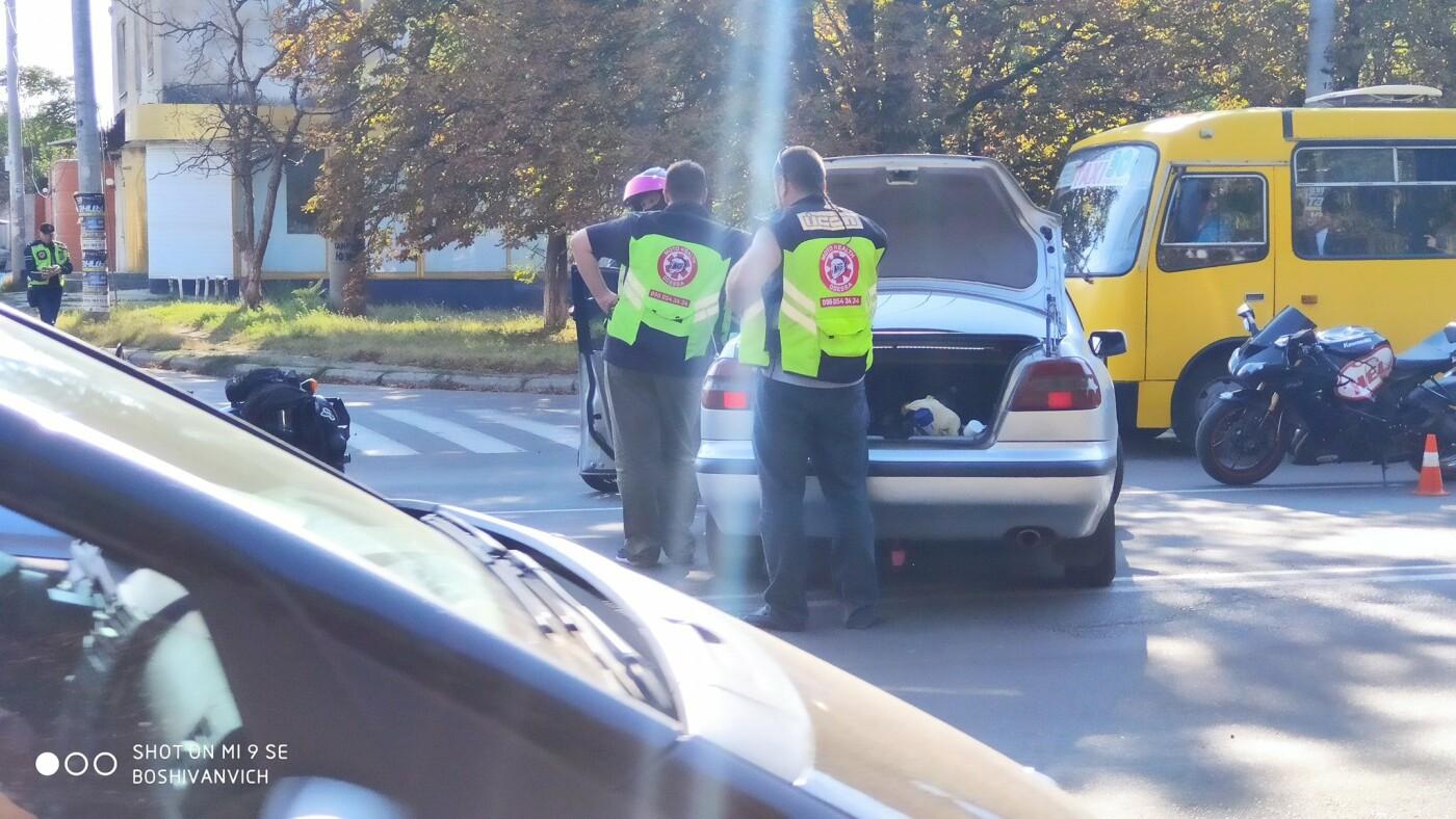 В Одессе мотоцикл столкнулся с легковушкой, - ФОТО2