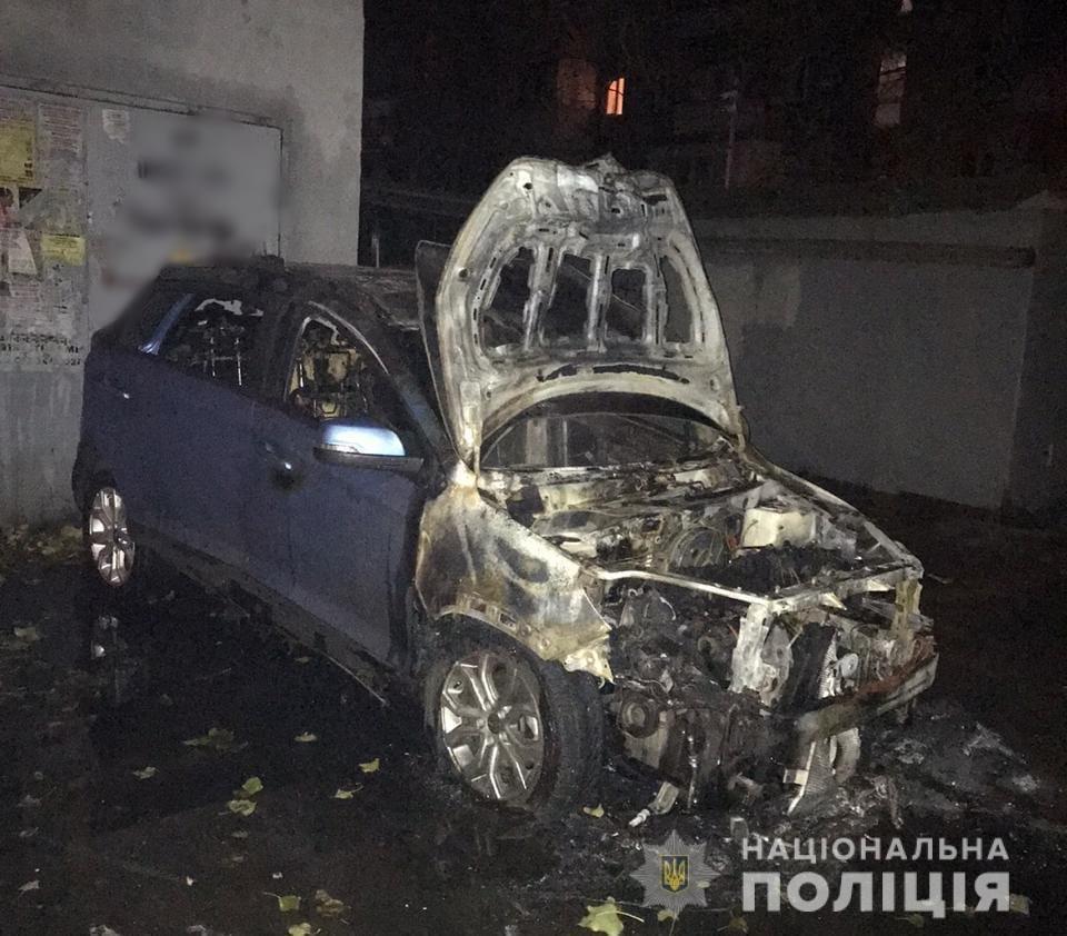 Ночью на Сегедской неизвестные подожгли машину одесситки, - ФОТО, фото-1