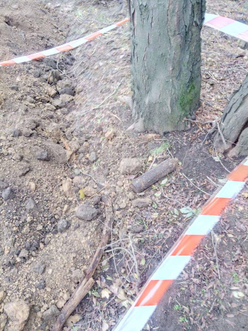 В Одессе в Дюковском саду нашли артснаряд, - ФОТО, фото-2