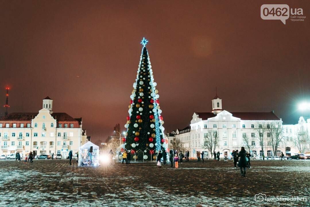 Новогодняя елка в Чернигове., ФОТО: 0462.ua
