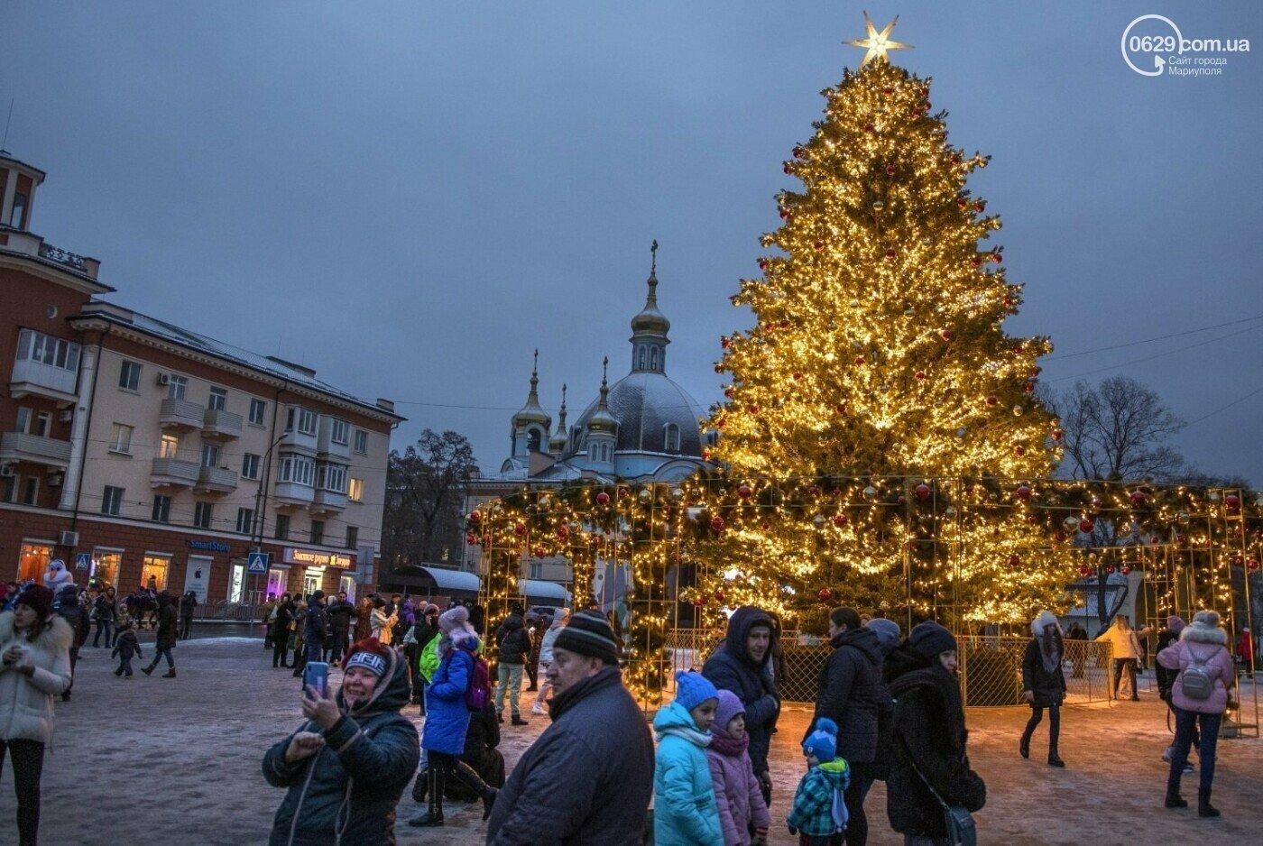 Новогодняя елка в Мариуполе
