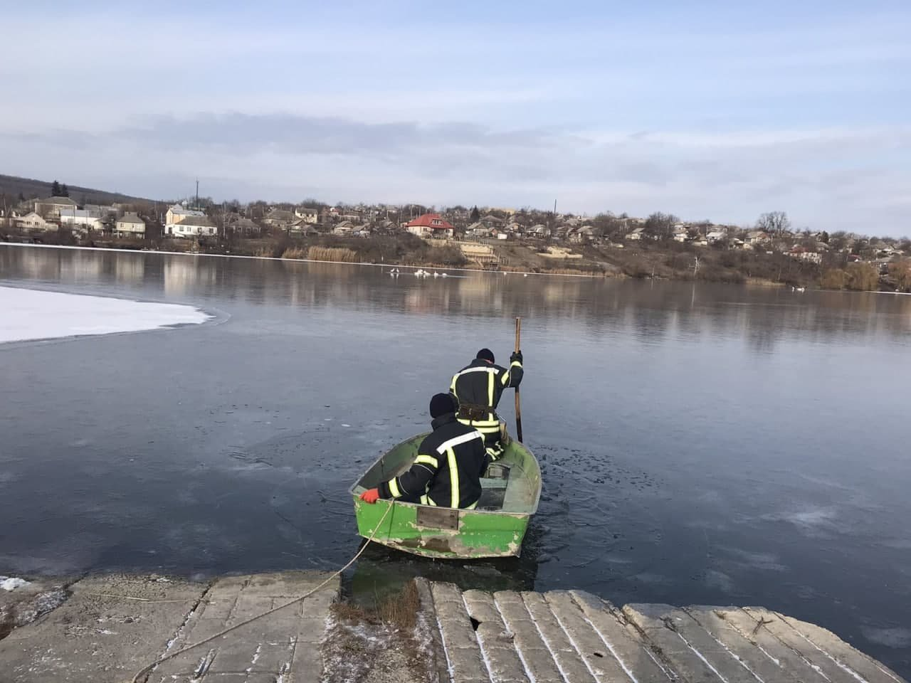 Спасатели в Одесской области освободили 16 лебедей от ледяного плена, - ФОТО, фото-1