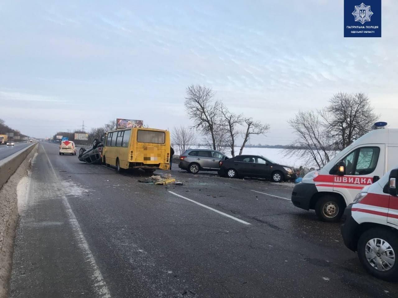 Три машины, автобус, пострадавший: на трассе Одесса-Киев пр..., фото-22