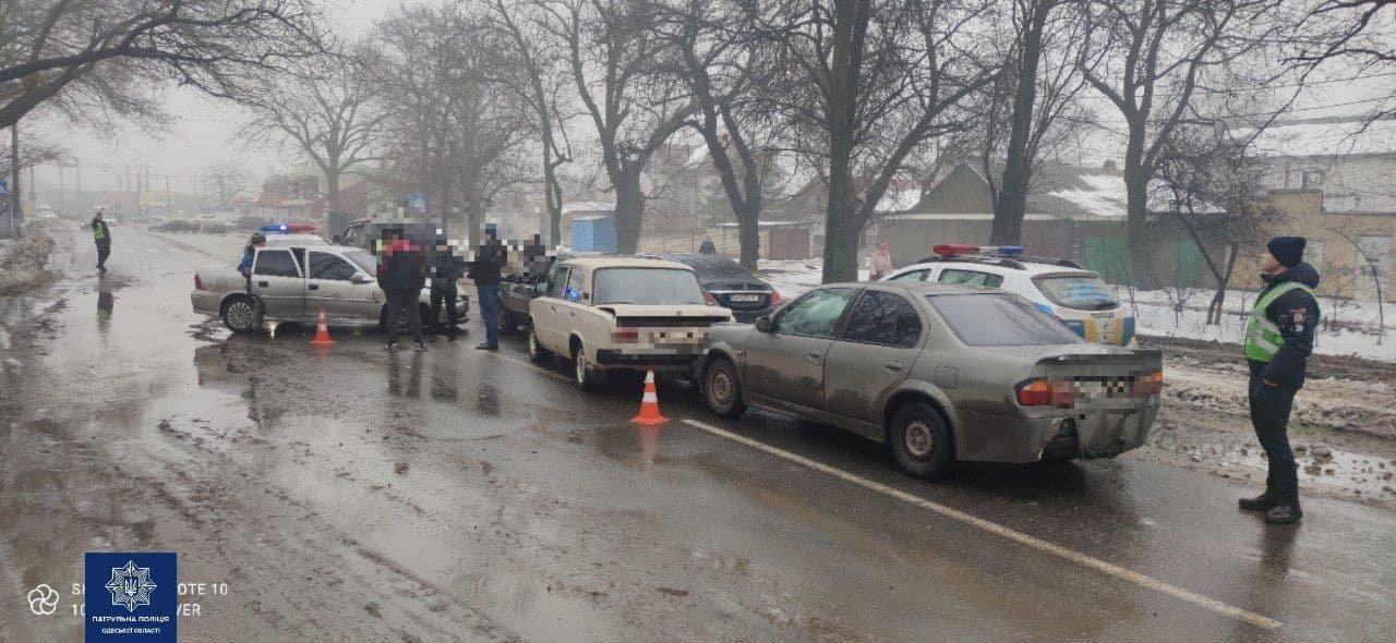 В Одессе столкнулись сразу шесть автомобилей, - ФОТО, фото-11