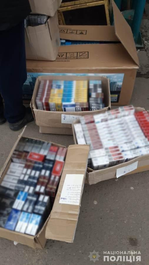 """На одесском промрынке """"7 км"""" обнаружили контрафактные сигареты, - ФОТО, фото-1"""