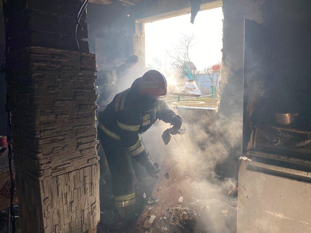 Под Одессой горел частный дом, - ФОТО, фото-1