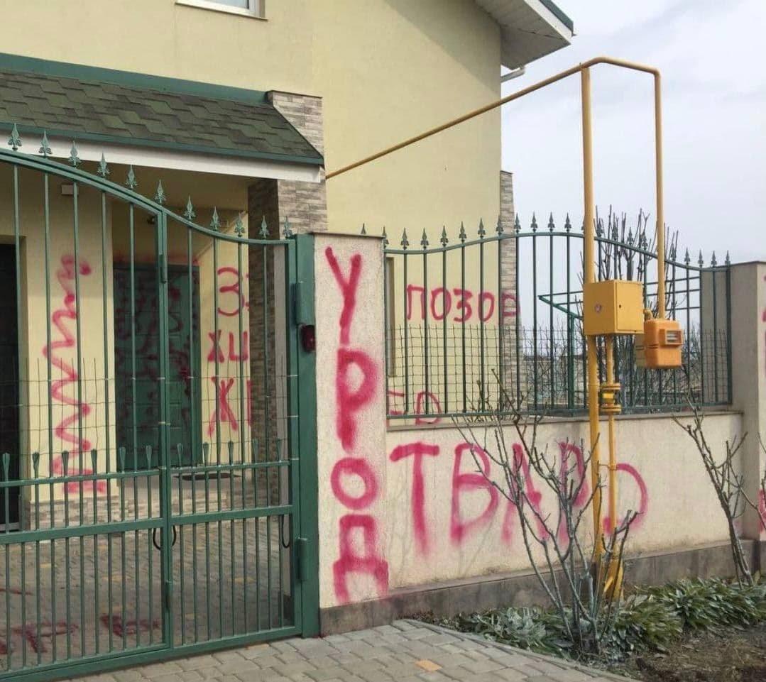 Активисты исписали дом живодера, который убил кота в Одесской области, - ФОТО, фото-3