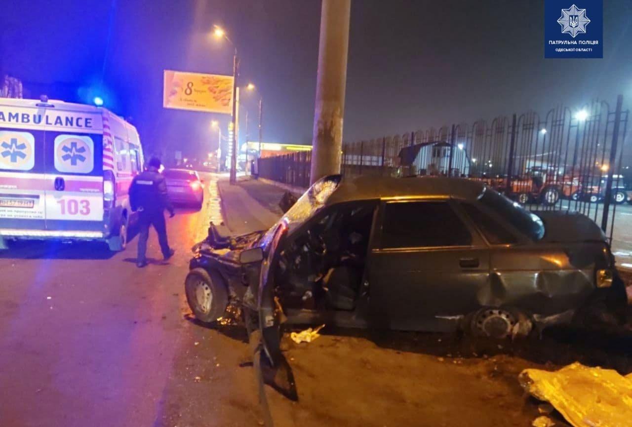 В Одессе пьяный водитель врезался в электроопору, - ФОТО, фото-3