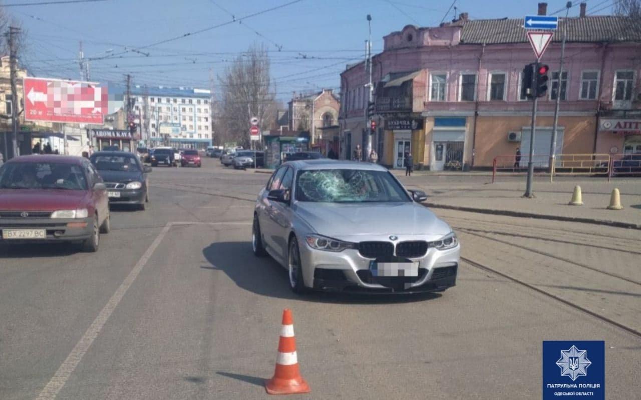 В Одессе водитель BMW сбил пешехода, - ФОТО, фото-1