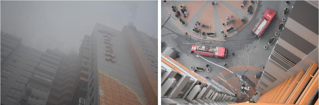 Пожар на Среднефонтанской: горело офисное помещение на 24 этаже, эвакуировали 55 человек, - ФОТО, фото-2