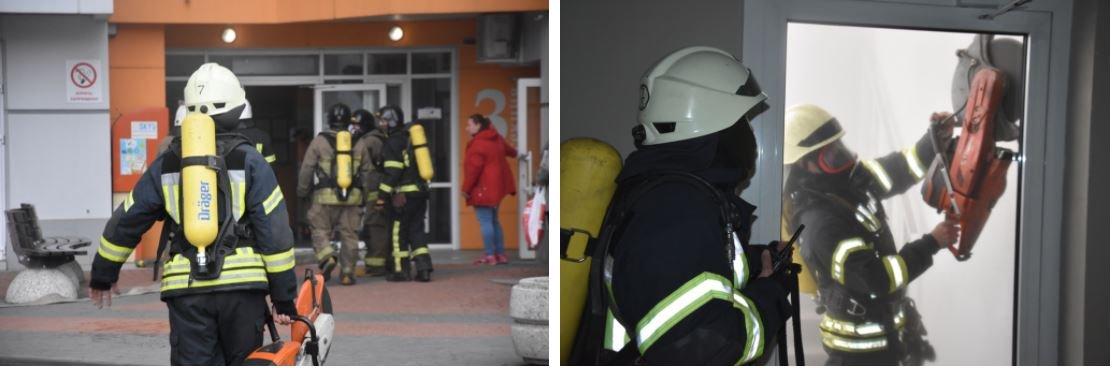 Пожар на Среднефонтанской: горело офисное помещение на 24 этаже, эвакуировали 55 человек, - ФОТО, фото-1