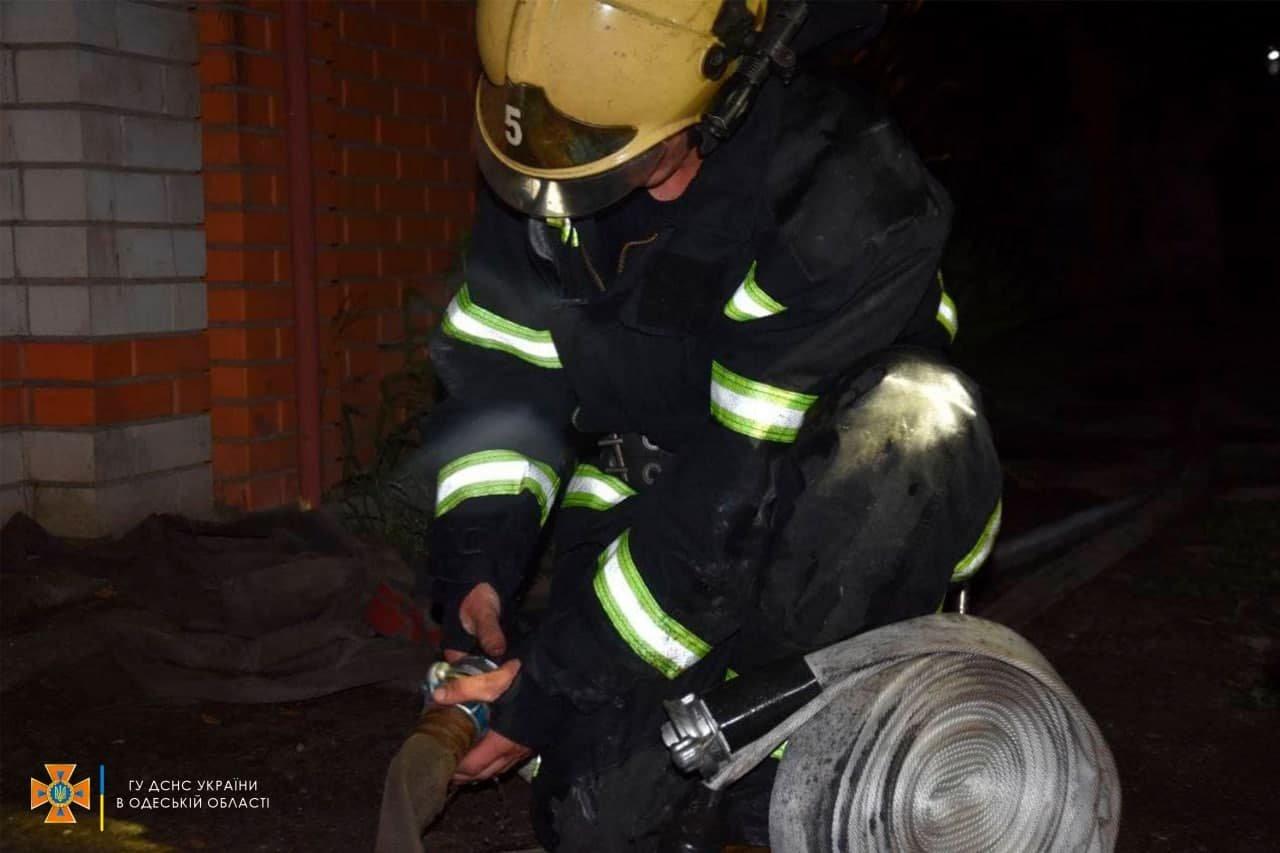Под Одессой горел жилой дом, - ФОТО, фото-1