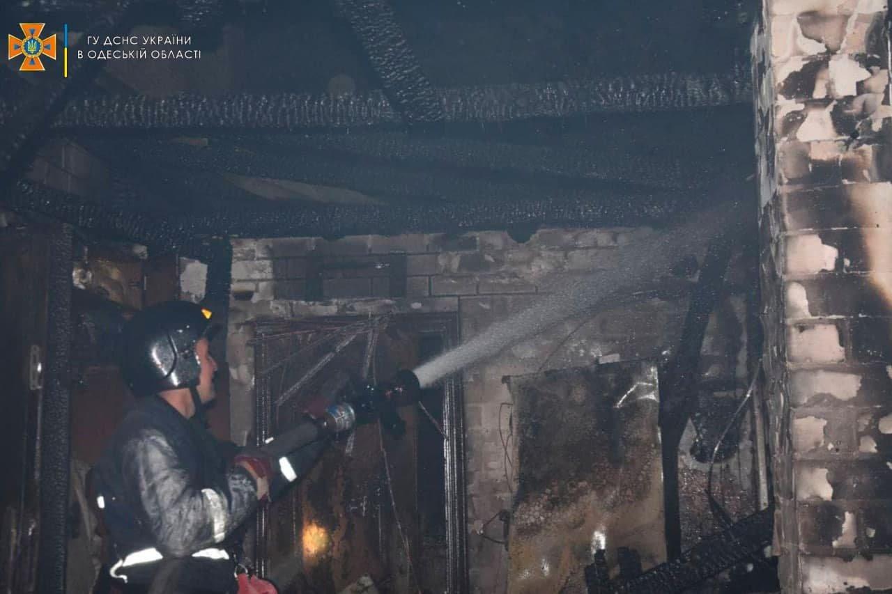 Под Одессой горел жилой дом, - ФОТО, фото-2