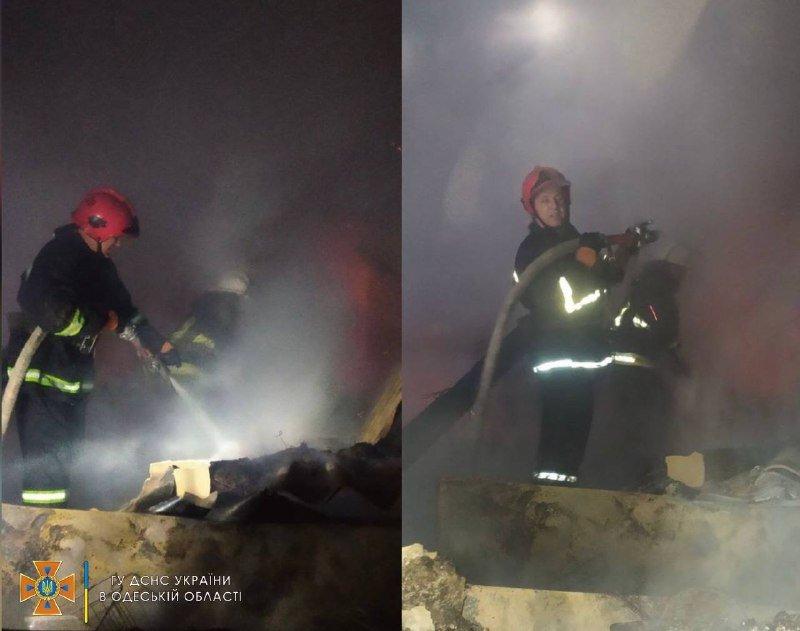 В Одесской области ночью загорелся магазин, - ФОТО , фото-1
