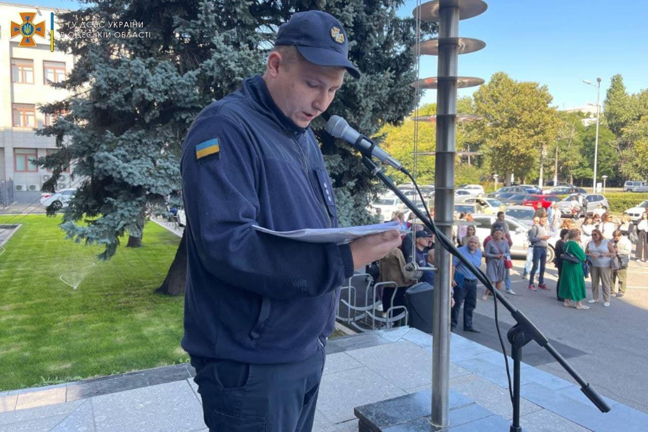 Пожар в Одесской обладминистрации: спасатели проводили учения, - ФОТО, фото-2