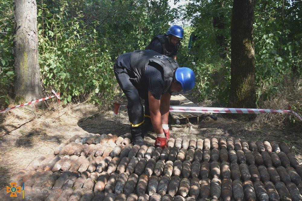 В лесу под Одессой нашли более 300 артснарядов и гранат, - ФОТО, фото-2
