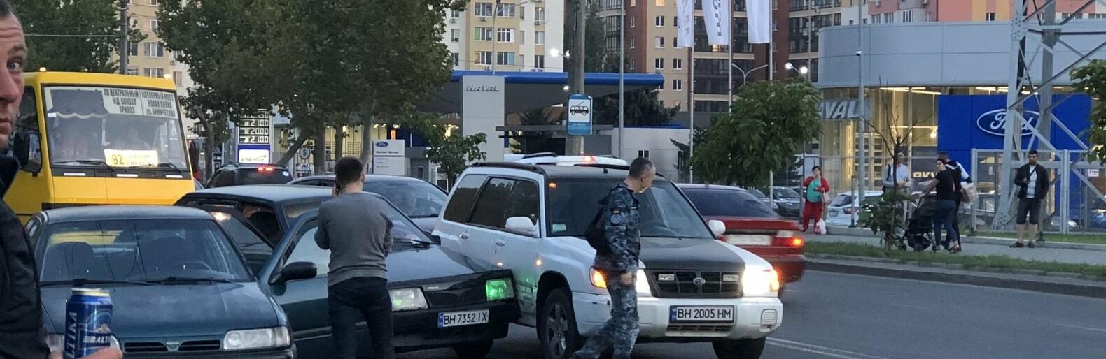 В Одессе из-за ДТП осложнено движение по Грушевского, - ФОТО0