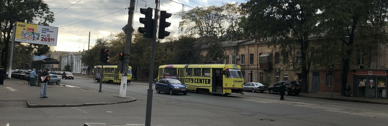 В Одессе столкнулись автомобили и перекрыли дорогу трамваю, - ФОТО0