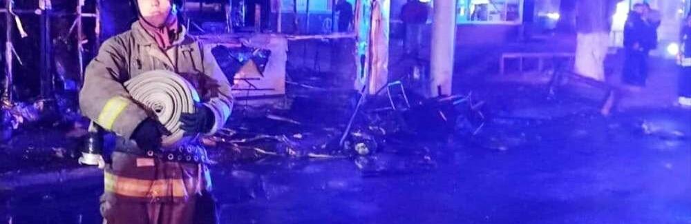 Горячая шаурма: в Одессе ночью сгорел киоск,- ФОТО0