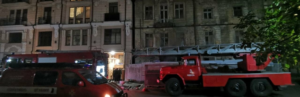 В центре Одессы на пожаре погиб мужчина, эвакуировали 8 бездомных,...0