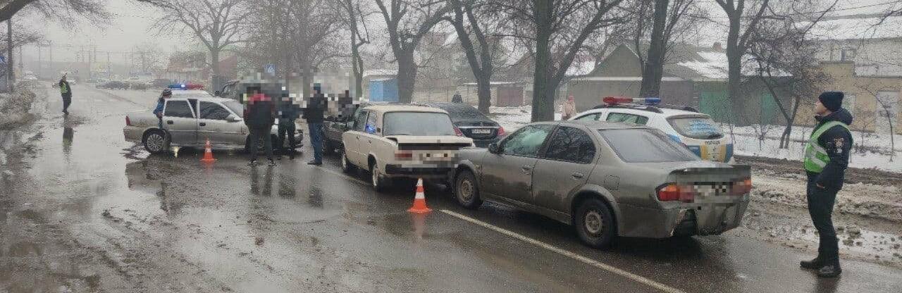 В Одессе столкнулись сразу шесть автомобилей, - ФОТО0