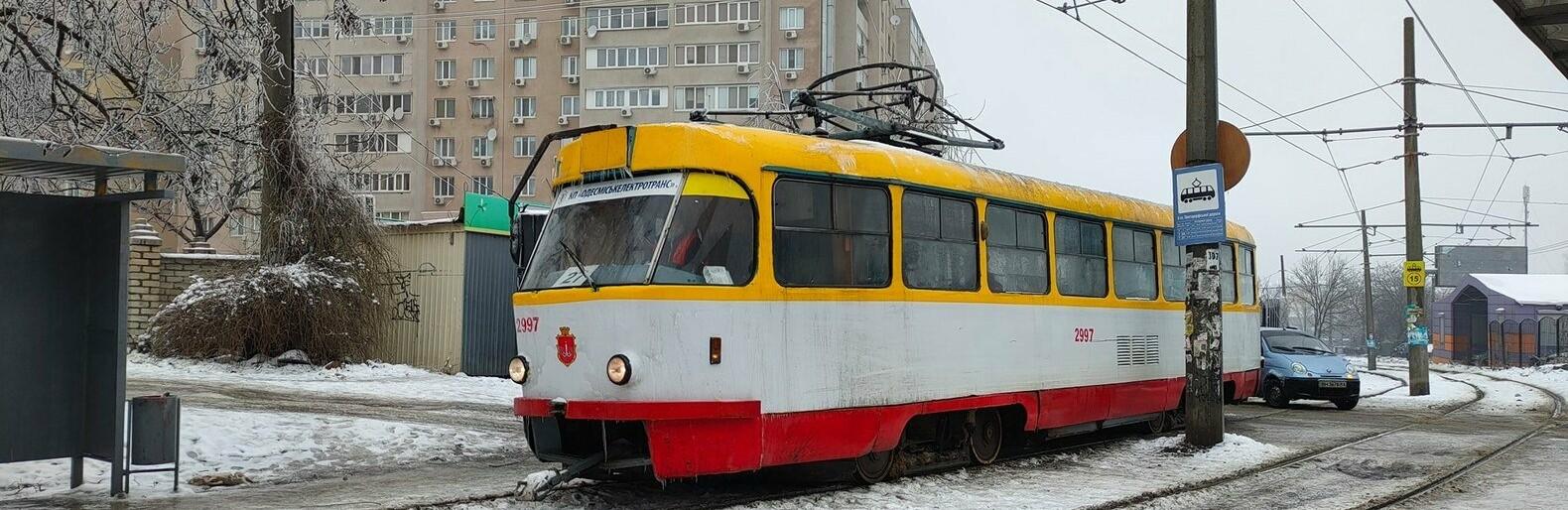 В Одессе на Люстдорфской дороге сломался трамвай, - ФОТО0